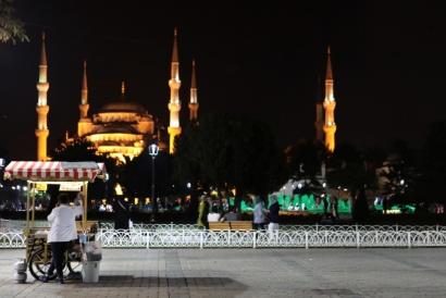 Istanbul Turkey 2017  Piazza Sultan Ahmet / Blue Mosque