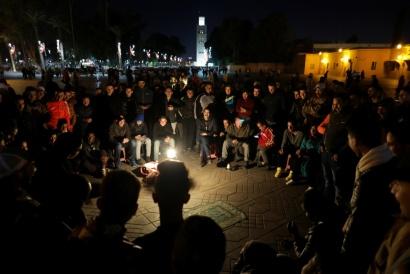 Cabaret, Jamaa el Fna Square, Marrakech Marocco 2017