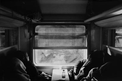 "Train Rabat / Marrakech Marocco 2017 "" ILFORD FP4 PLUS125 B/W """