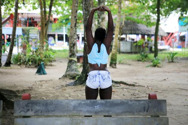 Puerto Viejo de Talamanca Costa Rica - Playa Salsa Brava Rocking J'S Ostel 2016
