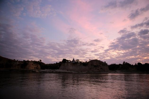 Bagan, east bank of the Irrawaddy River Myanmar(Burma) 2015