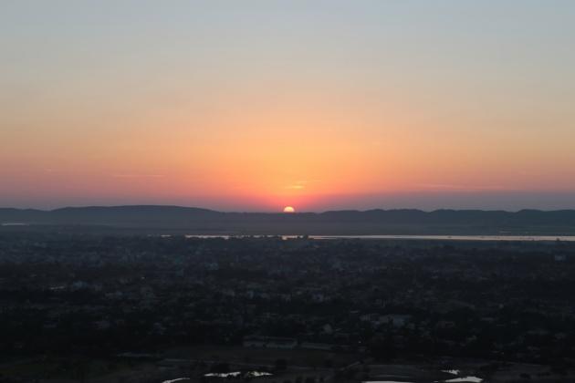 View from Mandalay hill Myanmar(Burma),2015