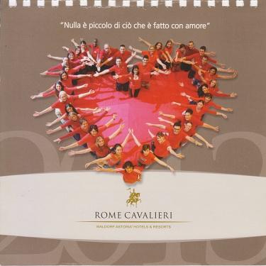 Associazione Casar Agar - onlus Rome Cavalieri Woldorf Astoria Hotel e Resorts Calendario 2013