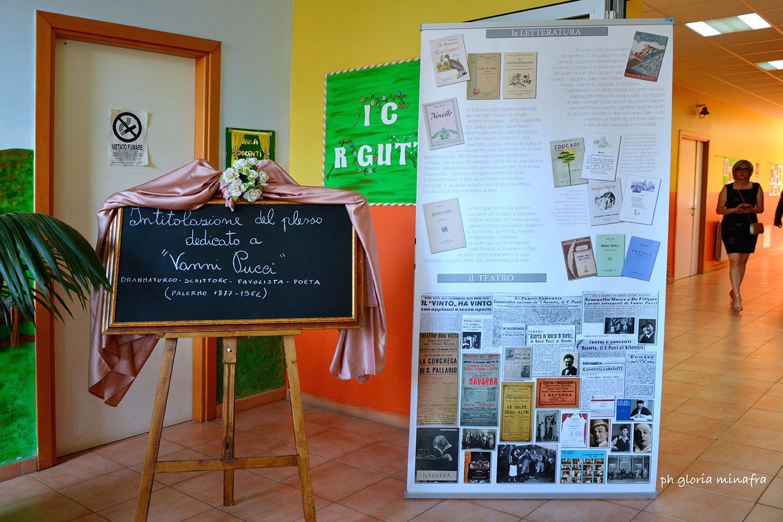 Intitolazione del plesso scolastico di via Elba a Villagrazia di Carini al drammaturgo, scrittore, favolista, poeta e pittore, Vanni Pucci (1877 - 1964) Palermo
