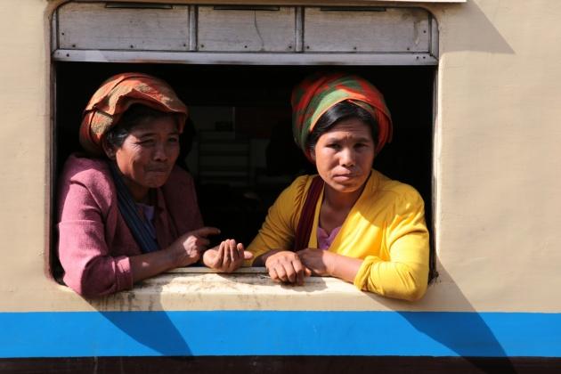 Train to Inle Lake Myanmar 2015
