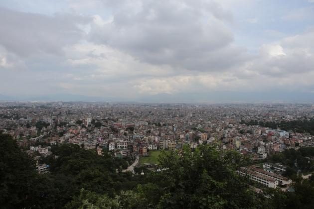 Kathmandu Valley from Monkey Temple Nepal 2014 -