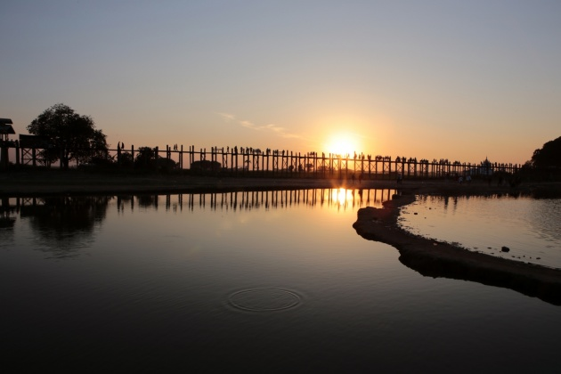 U Bein Bridge, Mandalay Myanmar 2015