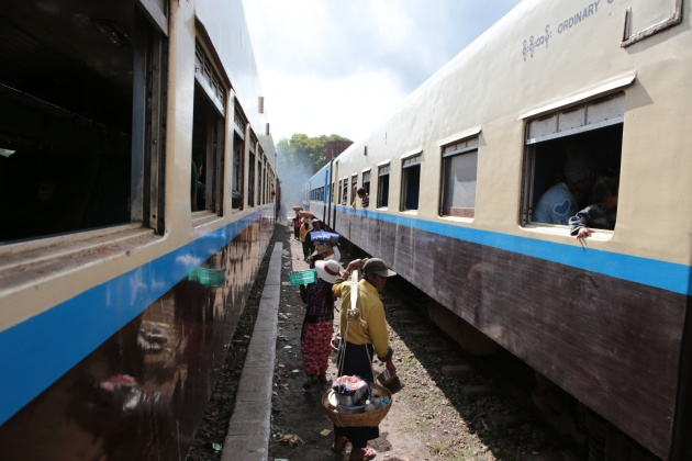 Train to Inle Lake Myanmar 2015